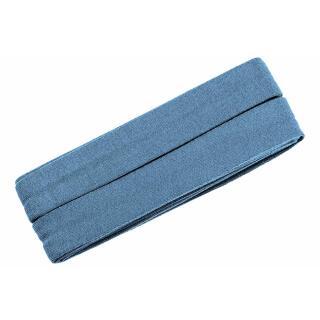 Jersey-Schrägband gefalzt jeansblau 3 meter