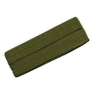 Jersey-Schrägband gefalzt olive 3m.