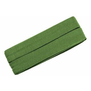 Jersey-Schrägband gefalzt mittelgrün 3m.
