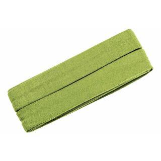 Jersey-Schrägband gefalzt hellgrün 3m.