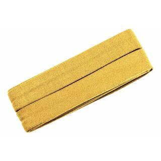 Jersey-Schrägband gelb gefalzt gelb 3m.i