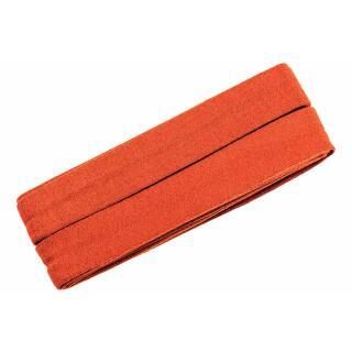 Jersey-Schrägband gefalzt orange 3m.
