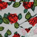 Viskose Jersey Rote Rosen