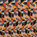 Viskose Jersey schwarz/orange