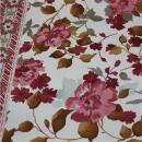 Baumwolle Blumenmuster mit Borte