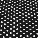Viskose Jersey schwarz weiße Tupfen
