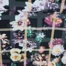 Viskose Karo Blumen Fotodruck