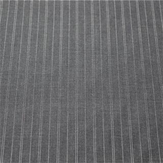 Nadelstreifen Wolle grau