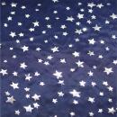 Folie blau Silber Sterne