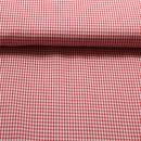 Baumwolle Vichikaro rot weiss 0,25 cm.