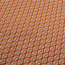 Baumwolle orange Romben