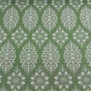 Baumwolle mit Elasthan Ornamente auf mint