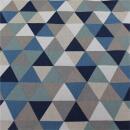 Canvas Dreiecke blau natur