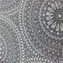 Beschichtete Baumwolle Mandala glitzer grau