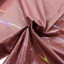 Kunstleder holographic altrosa Strech