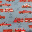 Canvas Feuerwehrautos blau