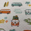 Canvas VW Bus auf weiss