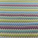 Jacquard Zacken flider, grün, blau