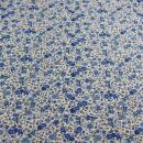 Baumwolle leicht blaue Blümchen