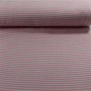 Bündchen Streifen rosa weiss 0,25 cm.breit