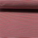 Bündchen Streifen rot weiss 0,25 cm.