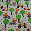 Jersey Fuchs auf Fahrrad