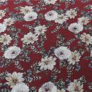 Viskose Blumen auf dunkel Rot