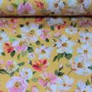 Jersey Blumen auf gelb