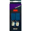 Hosenträger 125 cm. dunkel blau