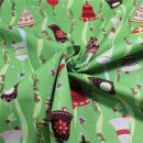 Weihnachtsstoff Glöckchen