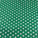 Beschichtete Baumwolle grün Punkte