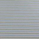 Jacquard Strick Pixel blau grün