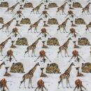 Baumwollstoff Giraffen