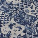 Canvas Batik blau