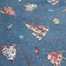 Canvas Raketen blau