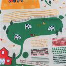 Baumwollstoff Bauernhof