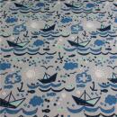 Softshell Anker blau