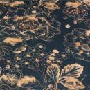 Canvas schwarz cognac Muster