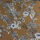 Viskosejersey Blumen auf senf