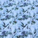 Jersey grüne Blumen auf weiss