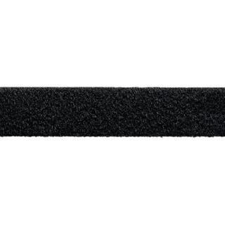Velour Flauschband zum Nähen 20mm schwarz