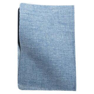 Jeans-Flickstoff hellblau zum Aufbügeln VENO