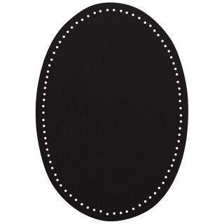 Flecken zum Aufbügeln schwarz Wildlederimitat 14x9,5cm 100 % Polyester VENO