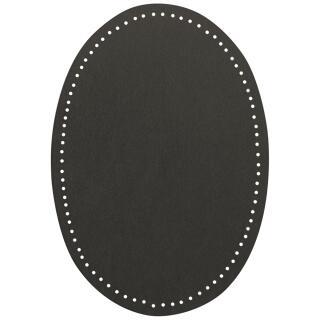 Bügel Flecken zum Aufbügeln grau Wildlederimitat 14x9,5 cm 100 % Polyester VENO