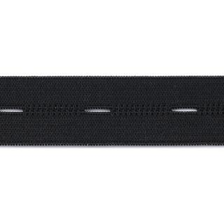 Knopfloch Elastic 18 mm  schwarz