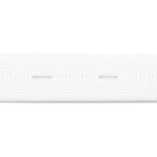 Knopfloch Elastic 18 mm weiß
