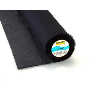 G700 Gewebeeinlage 90cm  schwarz,100 % Baumwolle Vlieseline