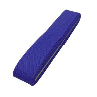 Baumwoll-Schrägband blau gefalzt 40/20mm Coupon  Gütermann