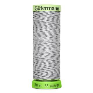 Nähfaden Knopflochgarn hell grau 30 mGütermann