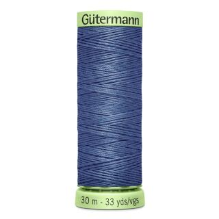 Nähfaden Knopflochgarn jeansblau 30 m Gütermann